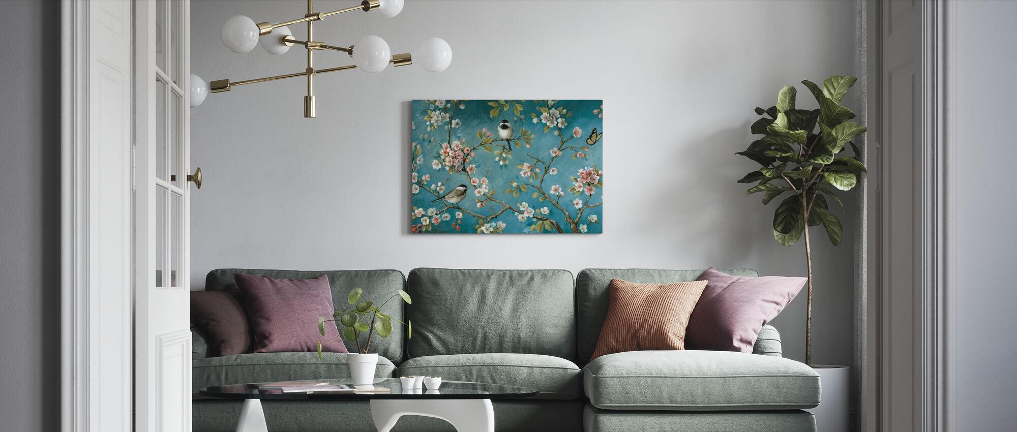 Blomstrer - Billede på lærred - Stue