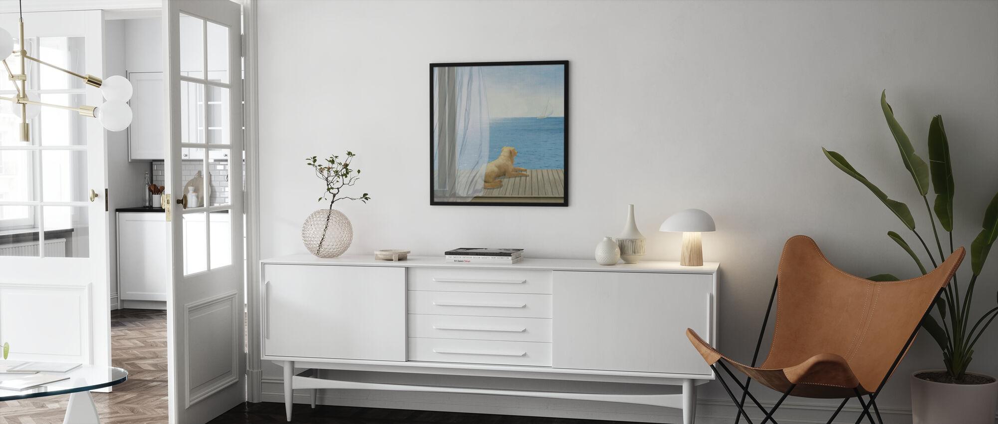 Blue Breeze 3 - Framed print - Living Room