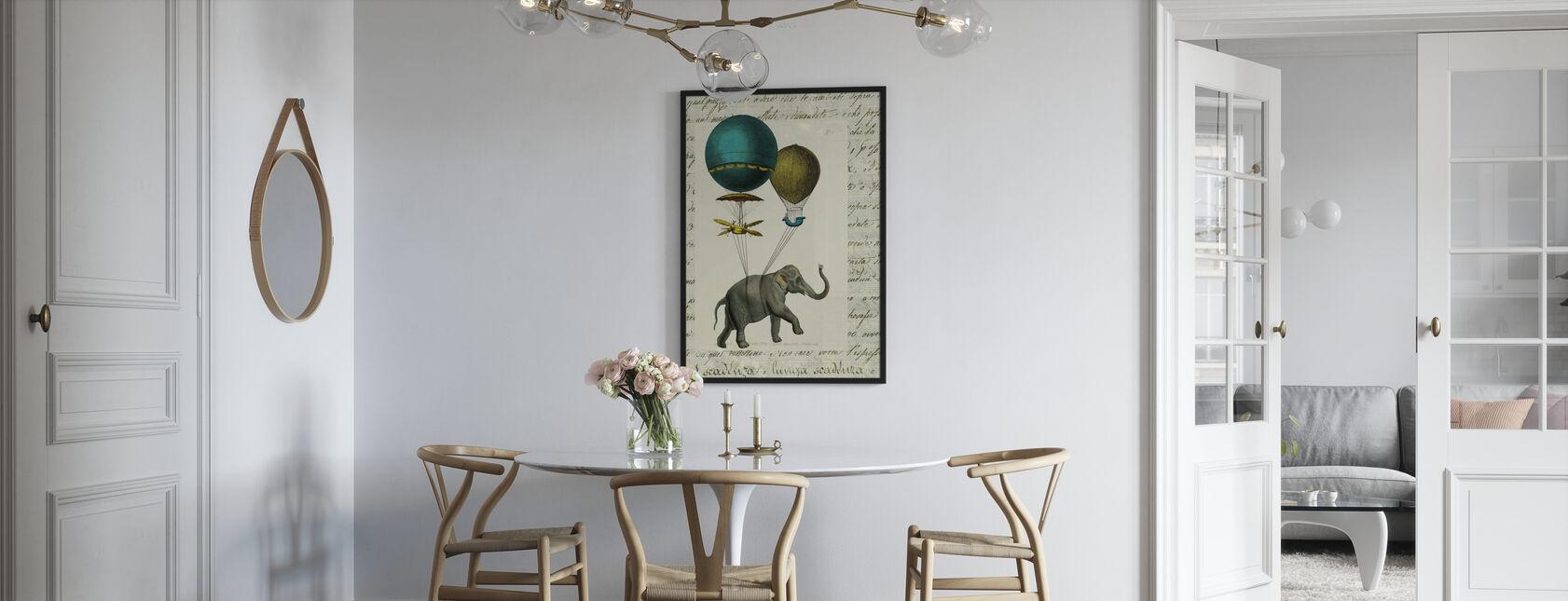 Elefantti ratsastaa 2 - Kehystetty kuva - Keittiö