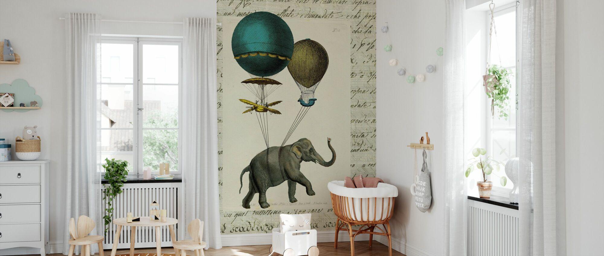 Elephant Ride 2 - Wallpaper - Nursery