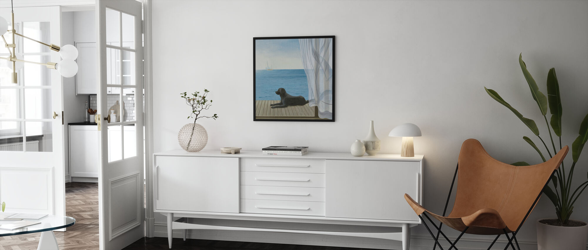 Blue Breeze 2 - Framed print - Living Room