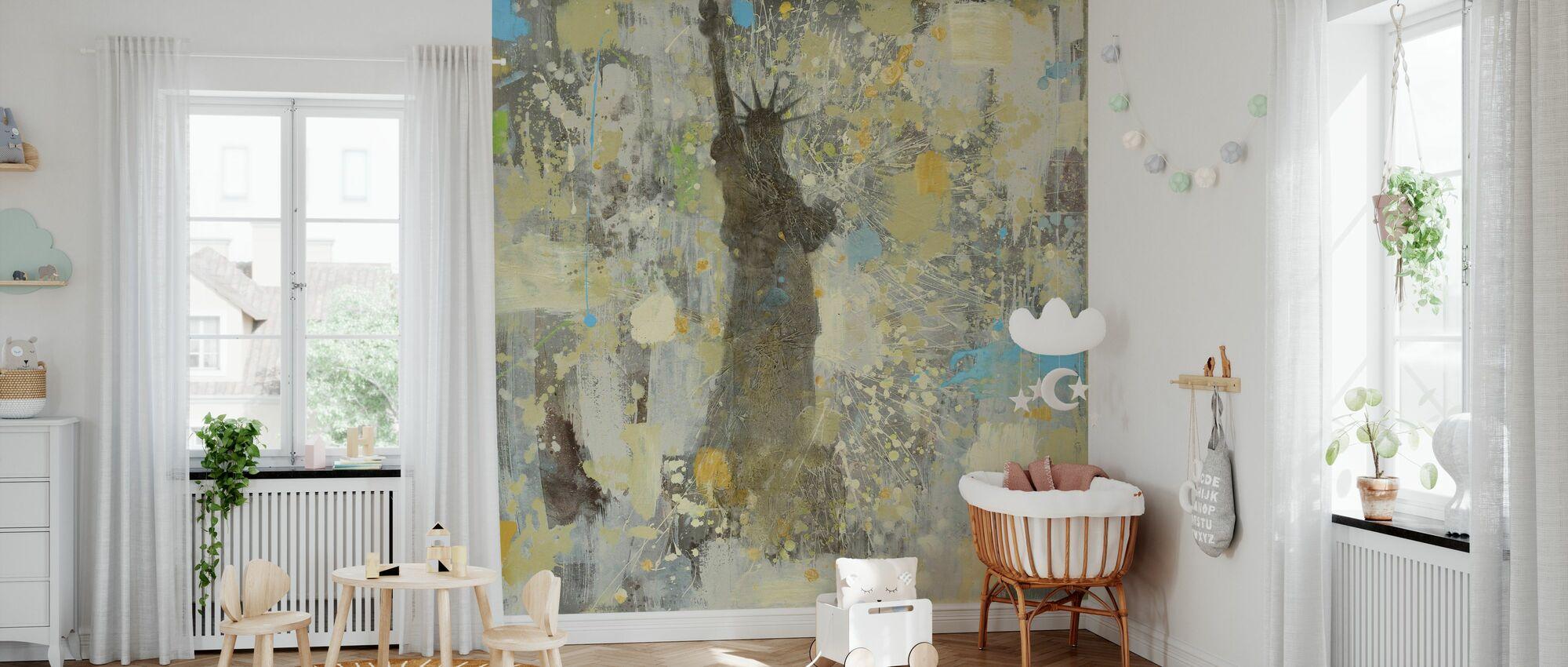 Vrijheidsbeeld Kleuren - Behang - Babykamer