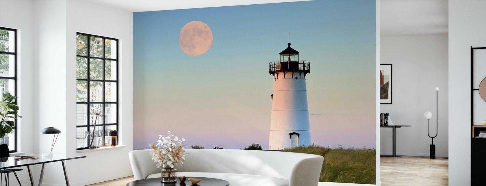 Moon Over Marthas Vineyard - Wallpaper - Living Room