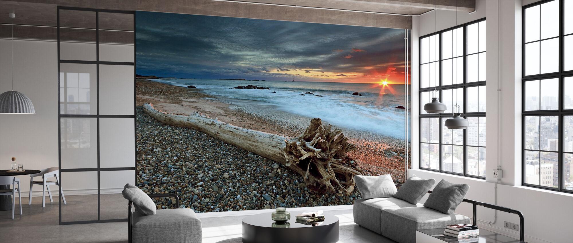 Sakonnet Driftwood - Wallpaper - Office