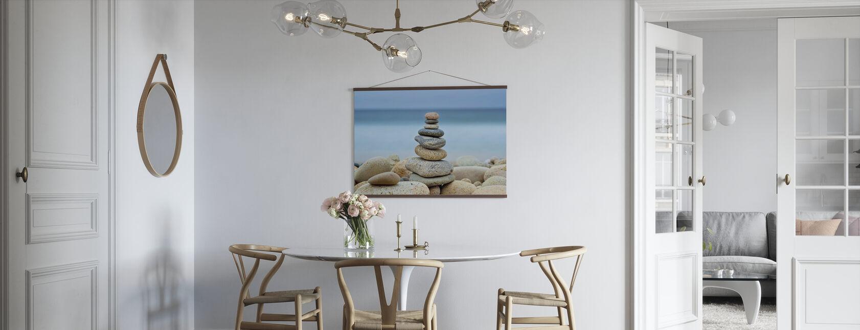 Sten væg strand Cairn - Plakat - Køkken