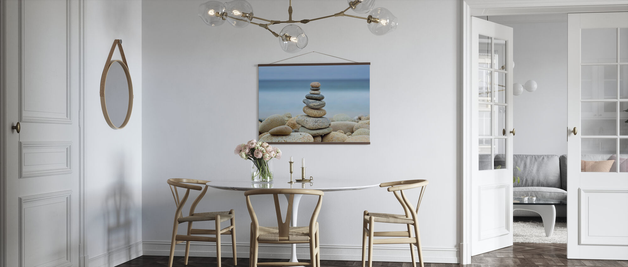 Stone Wall Beach Cairn - Poster - Kitchen