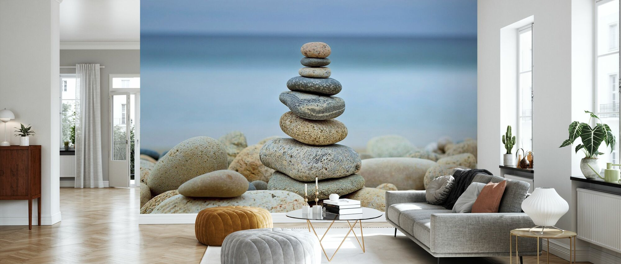 Stone Wall Beach Cairn - Wallpaper - Living Room