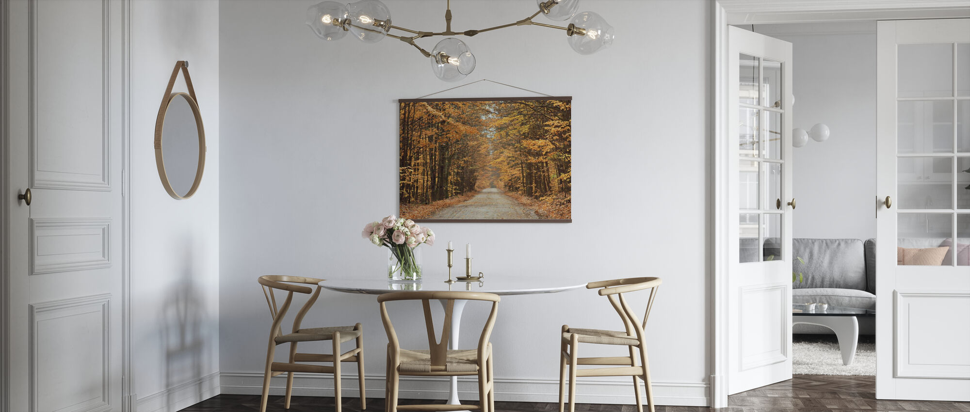 Autumn Country Road - Poster - Kitchen