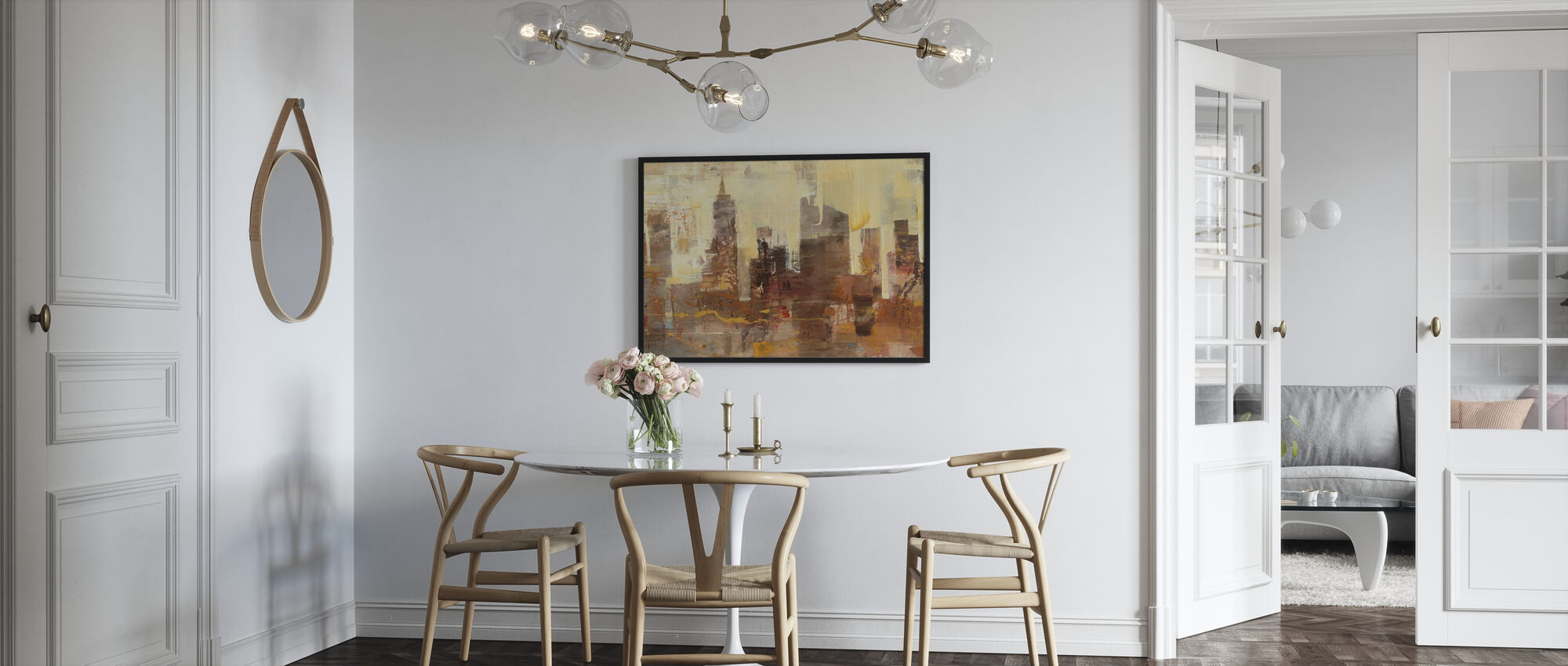 City Skyline at Dusk - Framed print - Kitchen