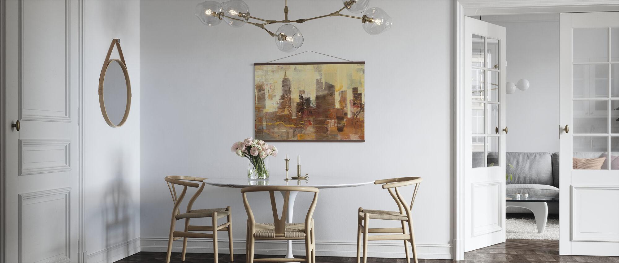 City Skyline at Dusk - Poster - Kitchen
