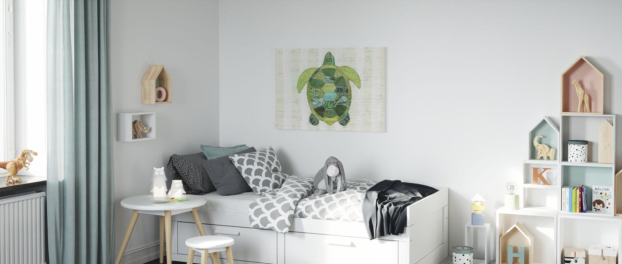In the Ocean Turtle - Canvas print - Kids Room