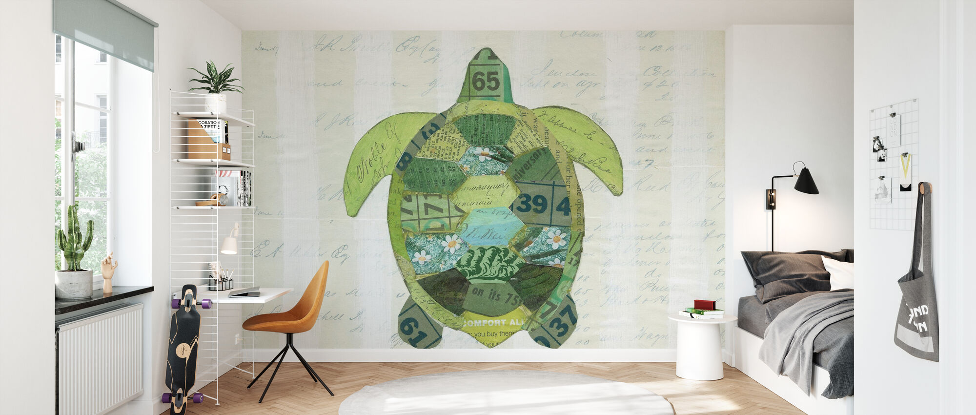In the Ocean Turtle - Wallpaper - Kids Room