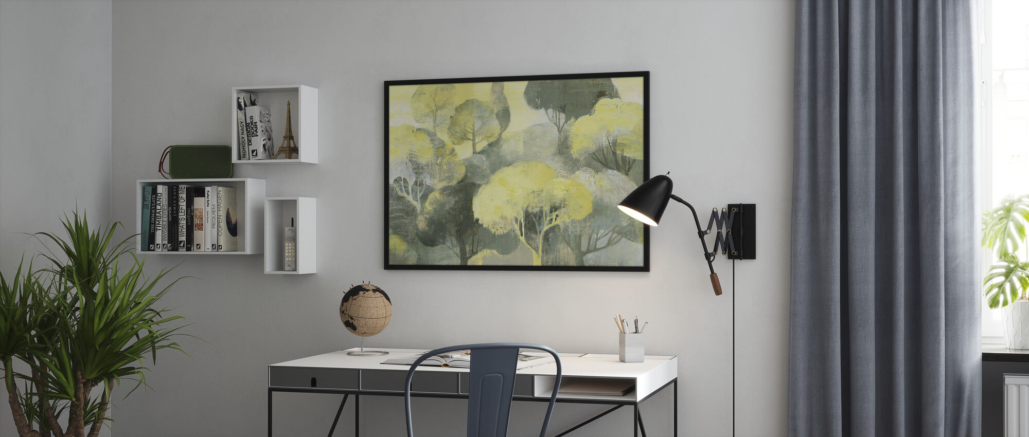 Looking Out at the Trees - Poster - Office