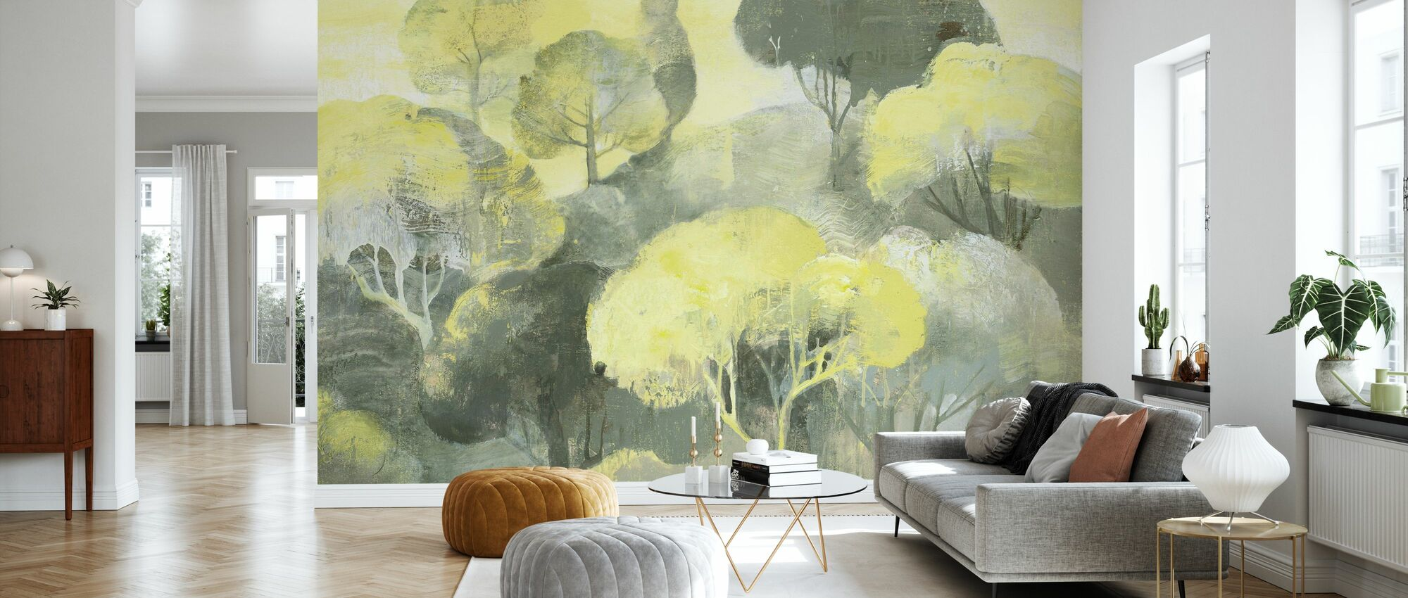 Looking Out at the Trees - Wallpaper - Living Room