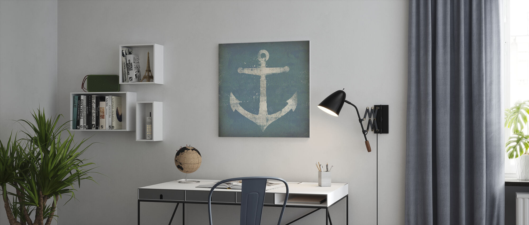 Anchor Square - Canvas print - Office