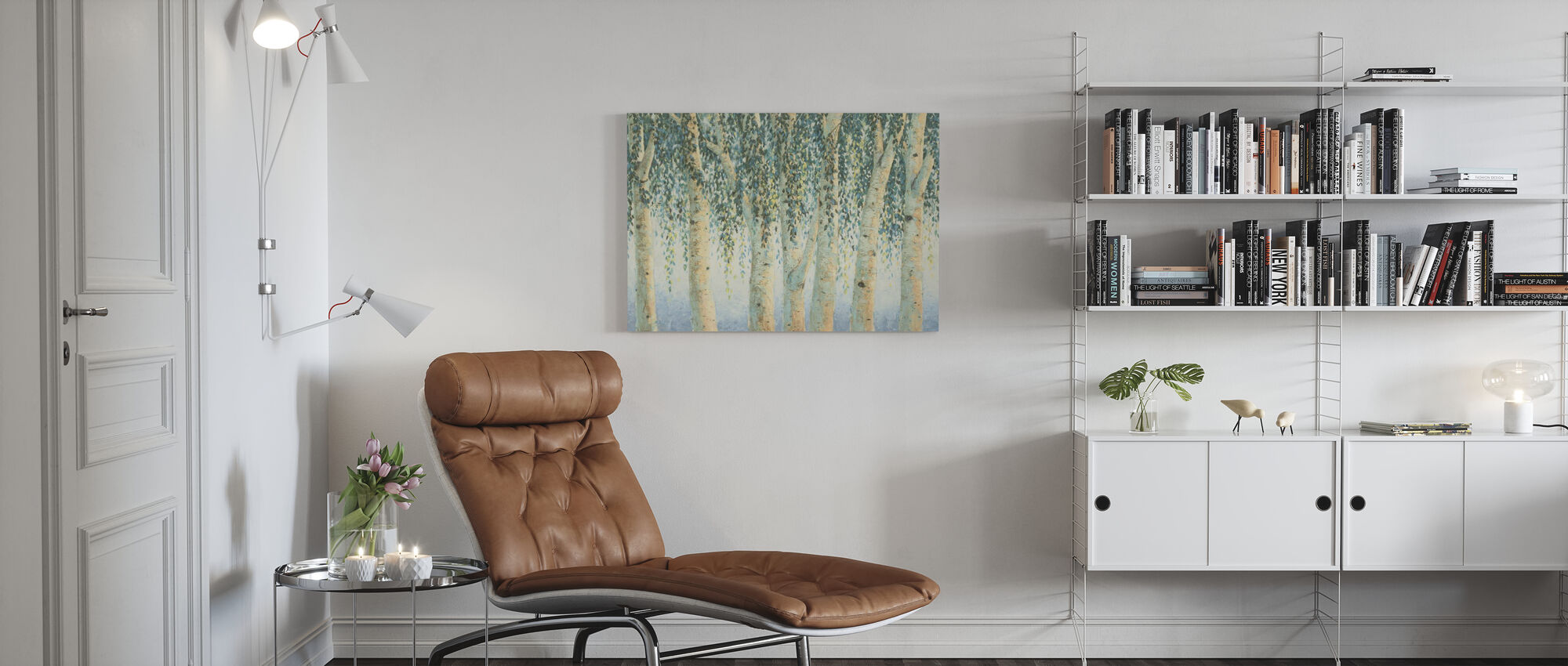 Sweeping Branches - Canvas print - Living Room
