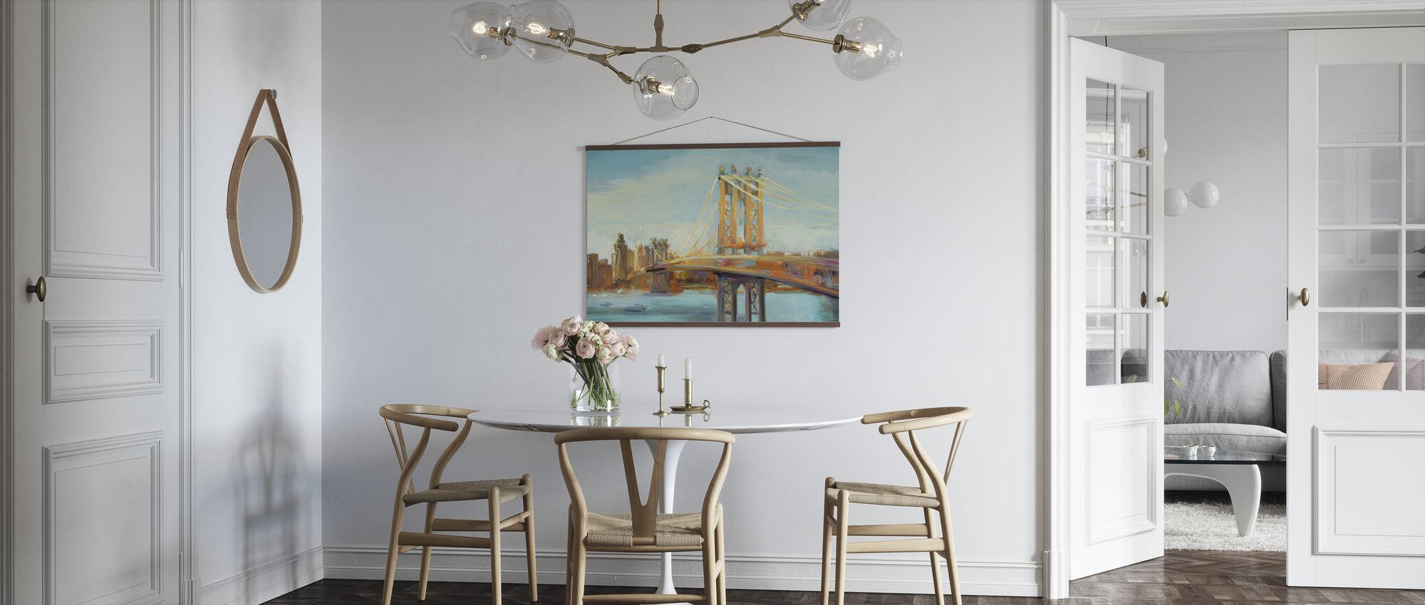 Sunny Manhattan Bridge - Poster - Kitchen