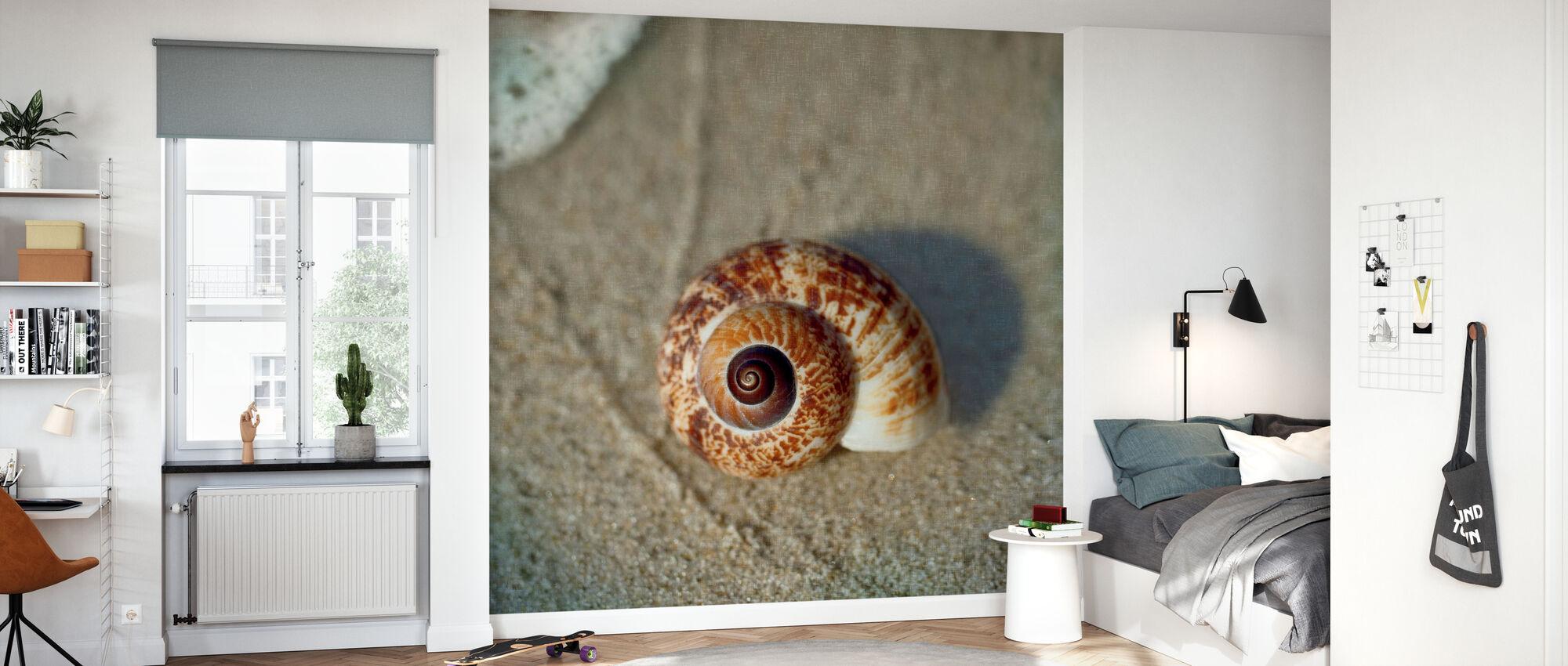 Sand Surf Shell - Wallpaper - Kids Room