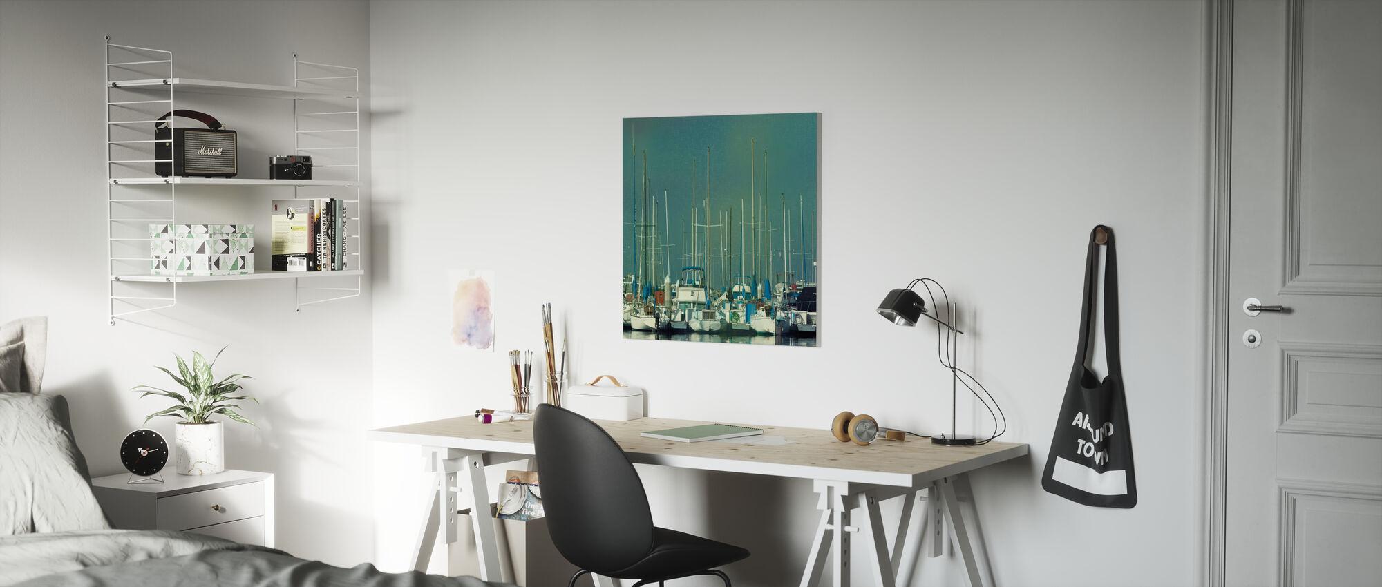 Harbor Boats - Canvas print - Kids Room