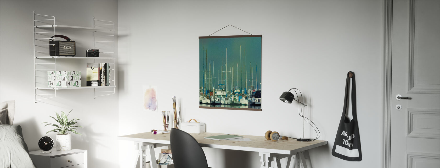 Harbor Boats - Poster - Office