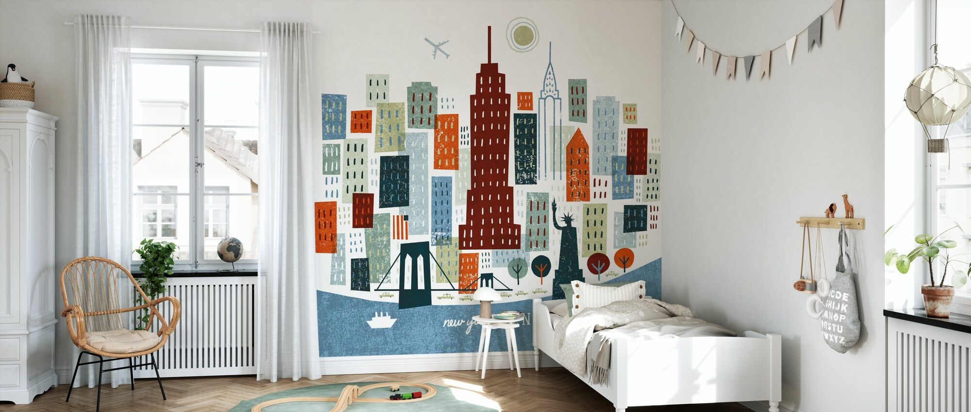 Colorful New York - Wallpaper - Kids Room
