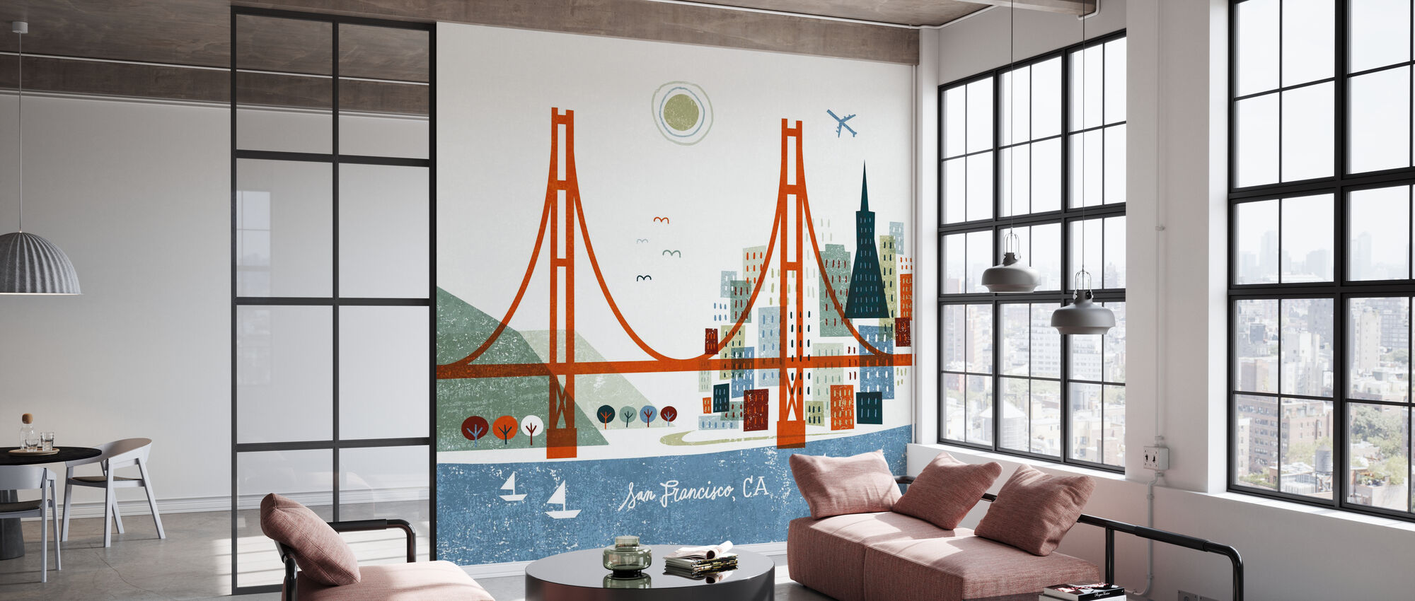 Colorful San Francisco - Wallpaper - Office