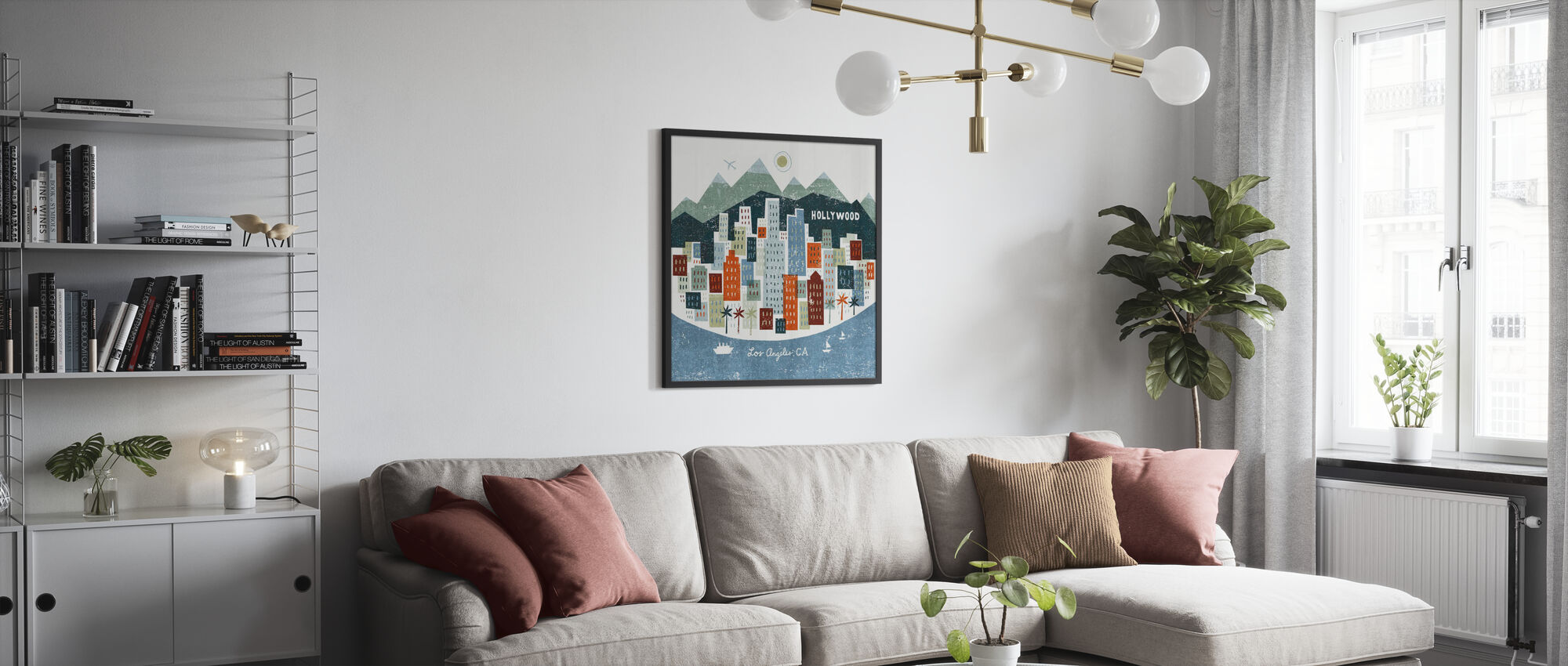 Colorful Los Angeles - Poster - Living Room