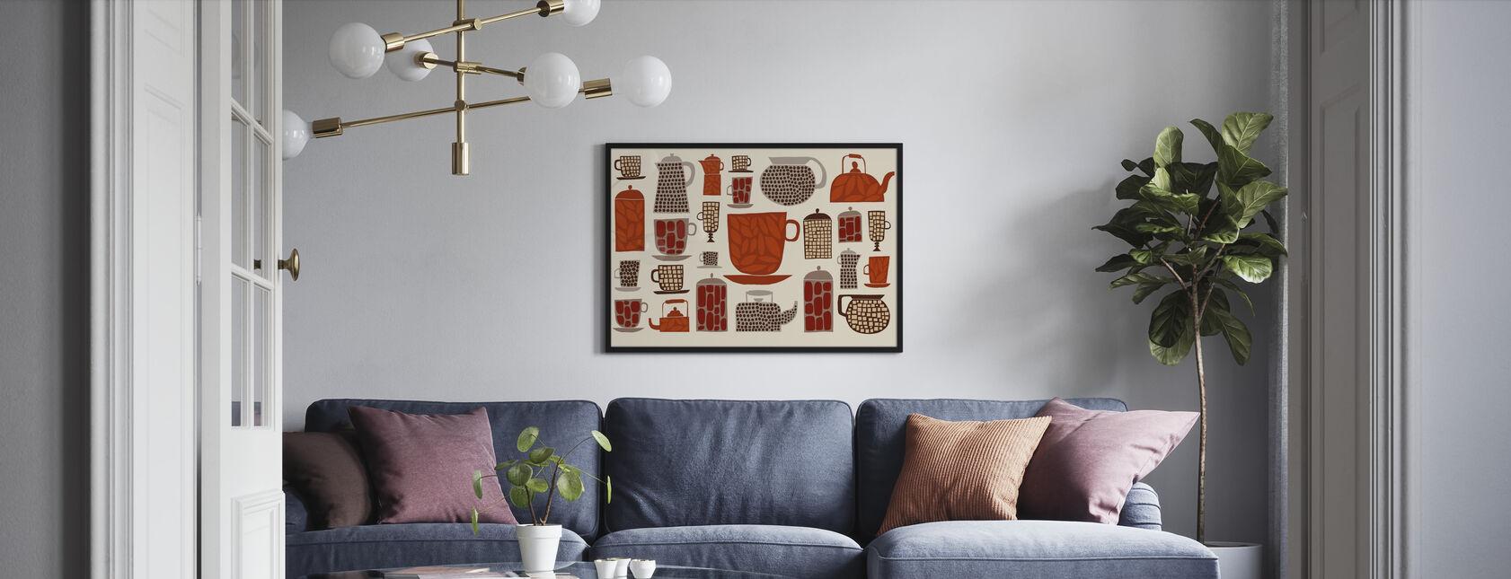 Retro Küche I - Poster - Wohnzimmer