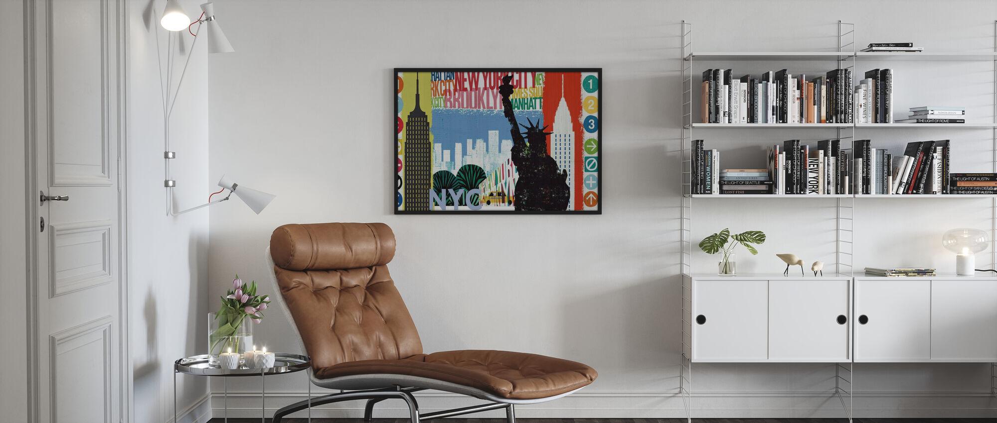 New York City Life I - Inramad tavla - Vardagsrum