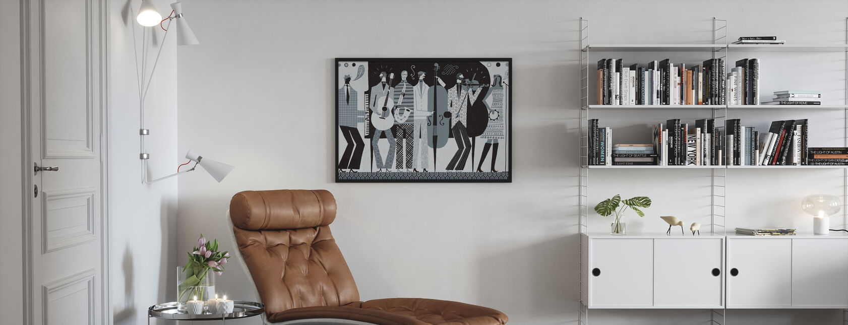 Bandet svart och vitt - Poster - Vardagsrum