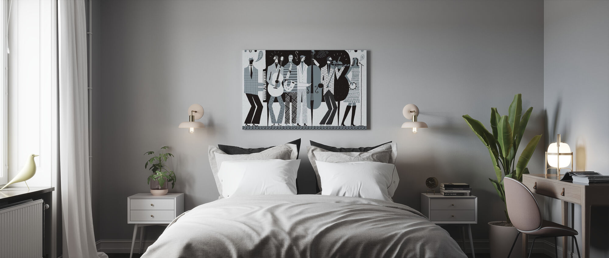 The Band Black and White - Canvas print - Bedroom