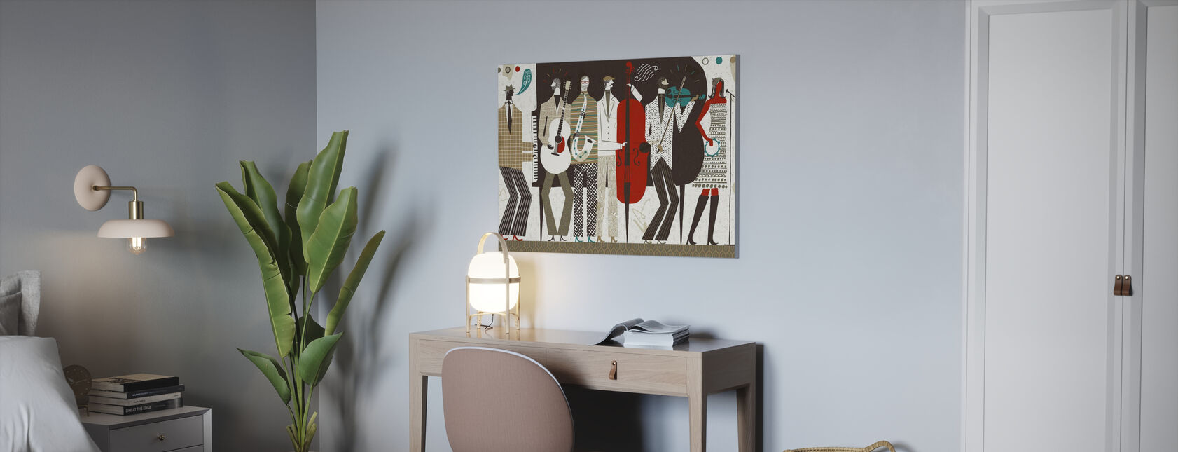 The Band Neutral - Canvas print - Office