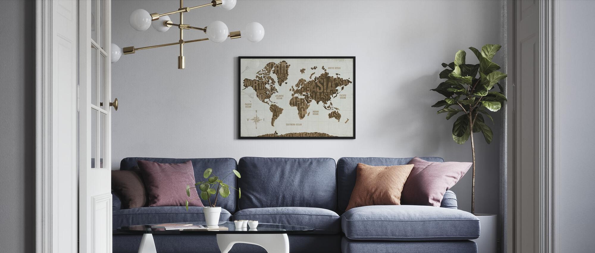 Modern World Guld - Poster - Vardagsrum