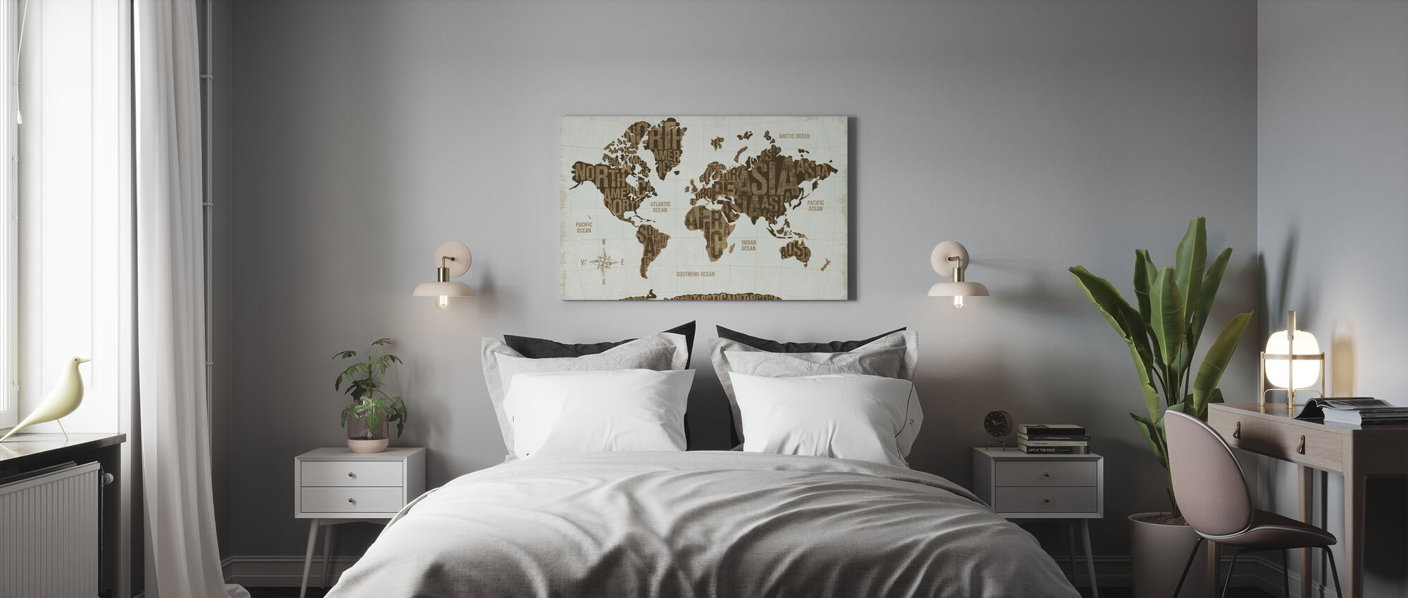 Modern World Gold - Canvas print - Bedroom