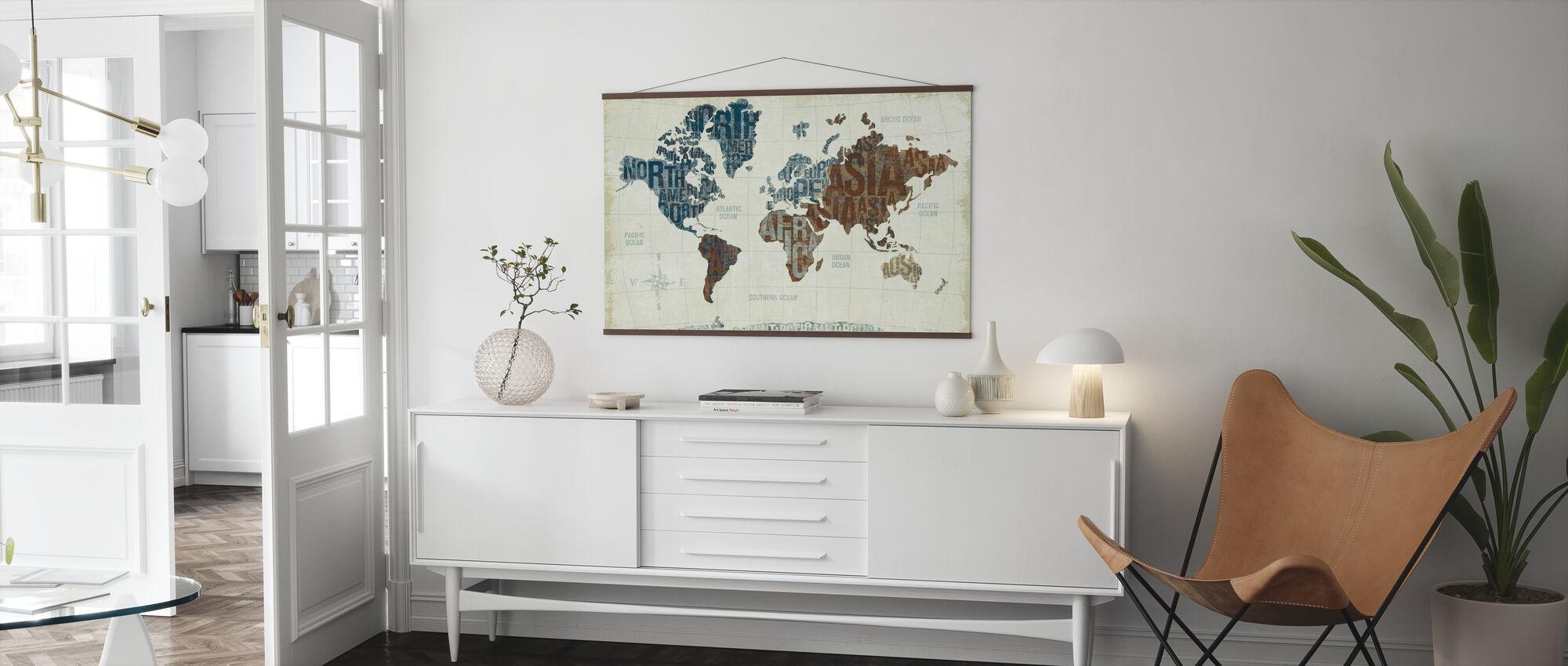 Moderne Welt neutral - Poster - Wohnzimmer