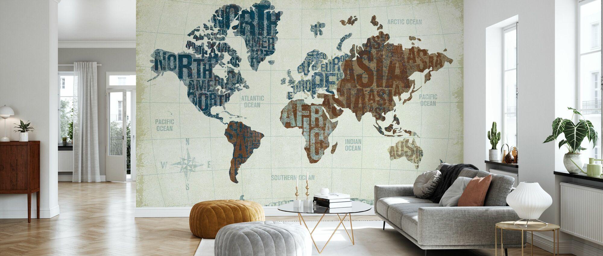 Moderne Verdens Nøytral - Tapet - Stue