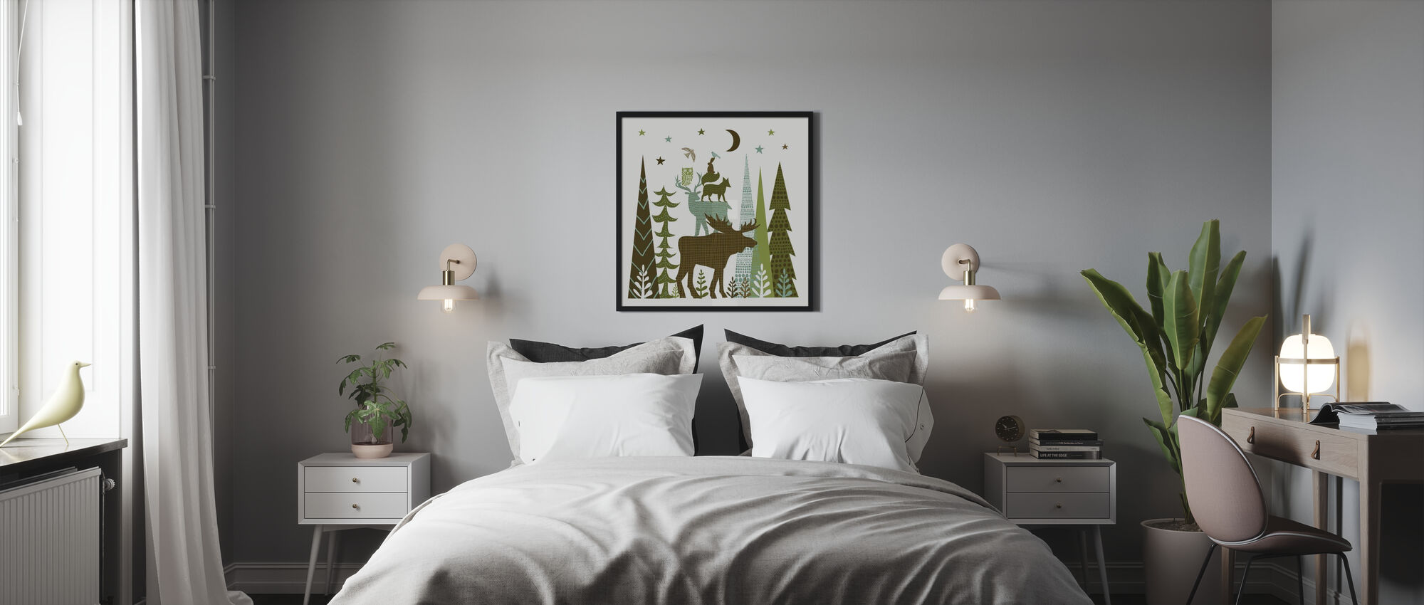 Forest Folklore Green Animals 2 - Poster - Bedroom
