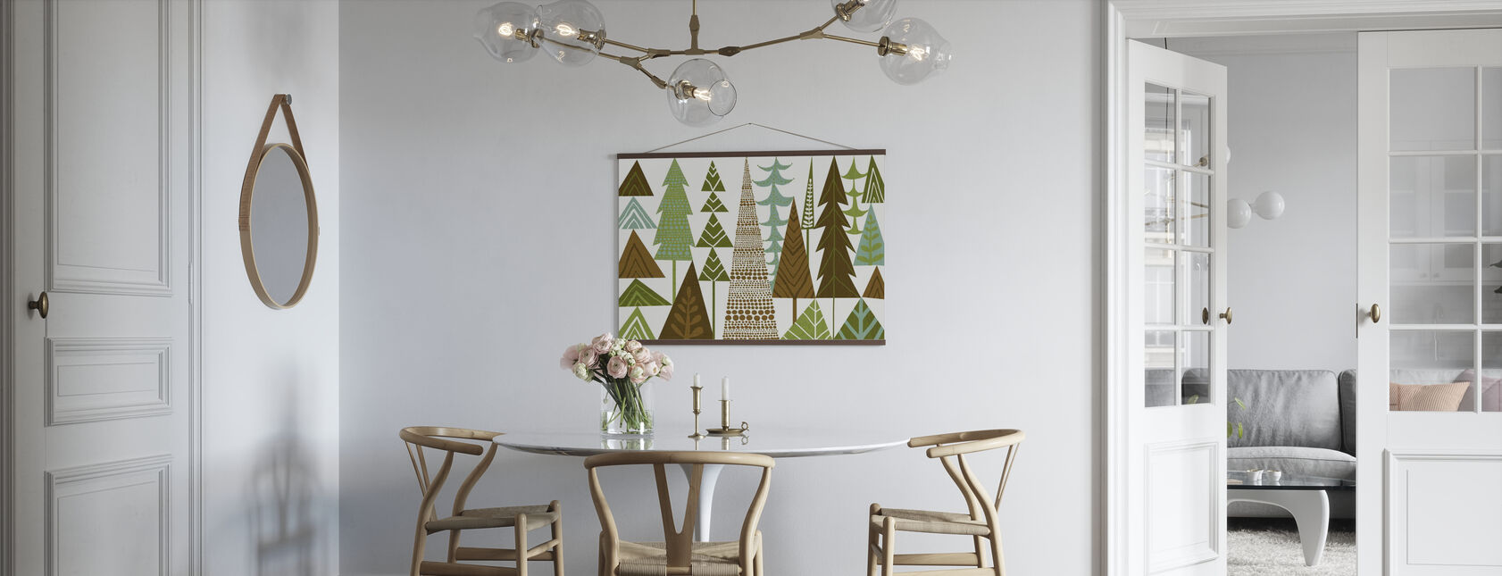 Forest Folklore Green Trees - Poster - Kitchen