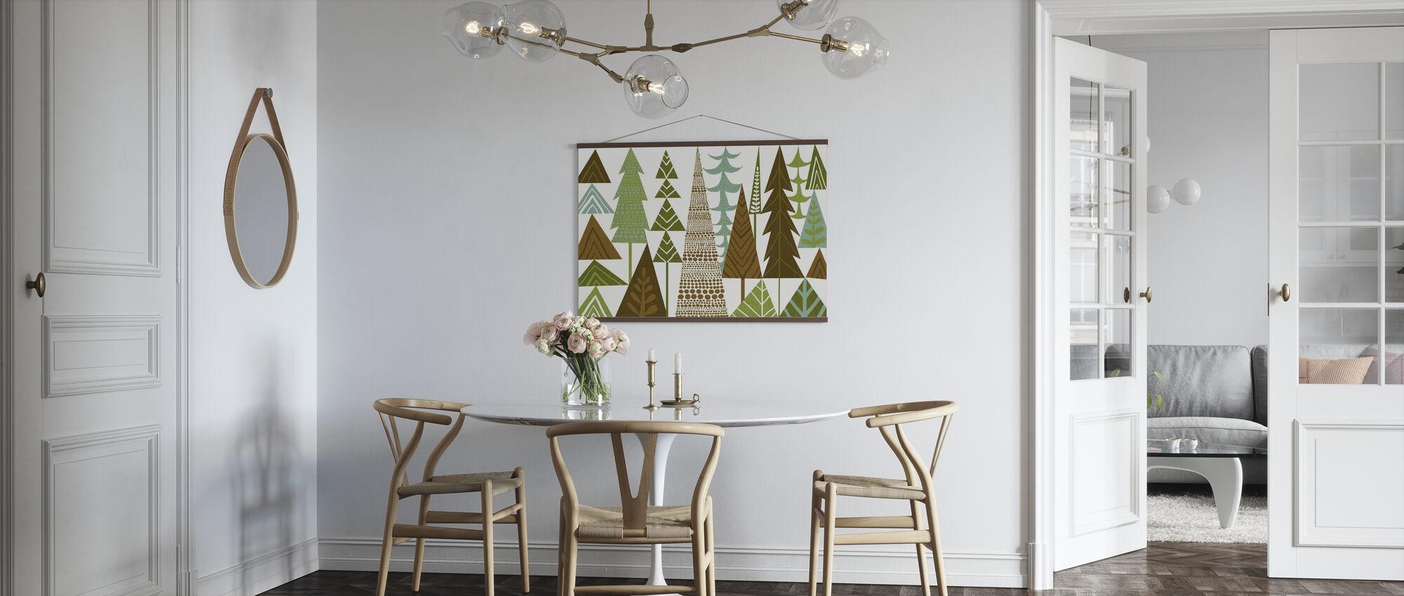 Folklore forestier arbres verts - Affiche - Cuisine