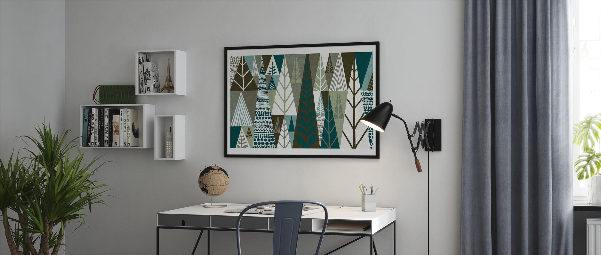 Geometric Forest - Poster - Office