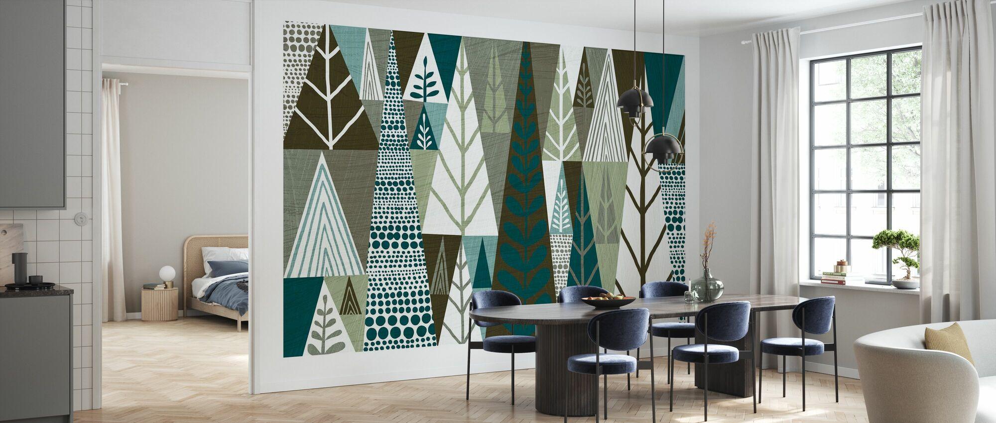 Geometric Forest - Wallpaper - Kitchen