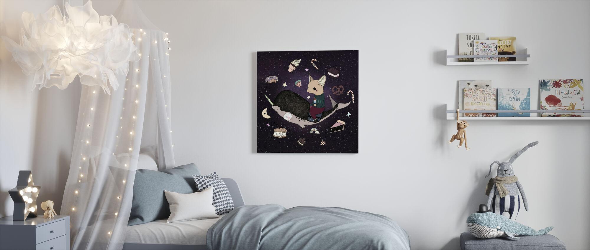 Spazio caramelle - Stampa su tela - Camera dei bambini