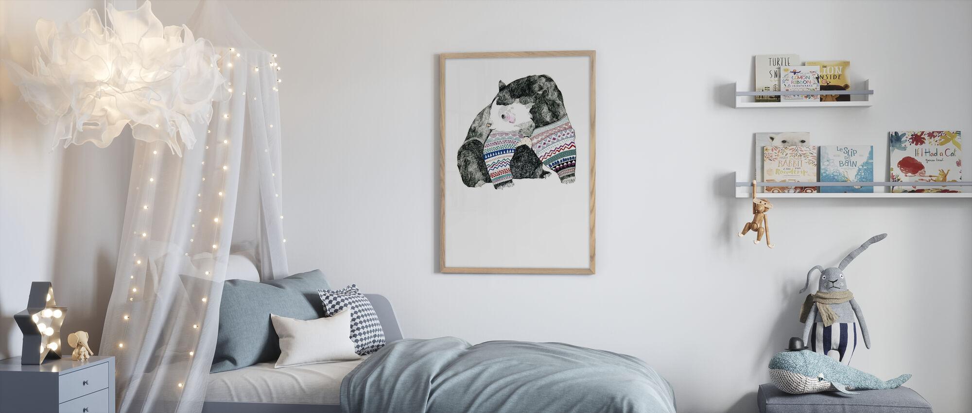 Knitted Bear - Framed print - Kids Room