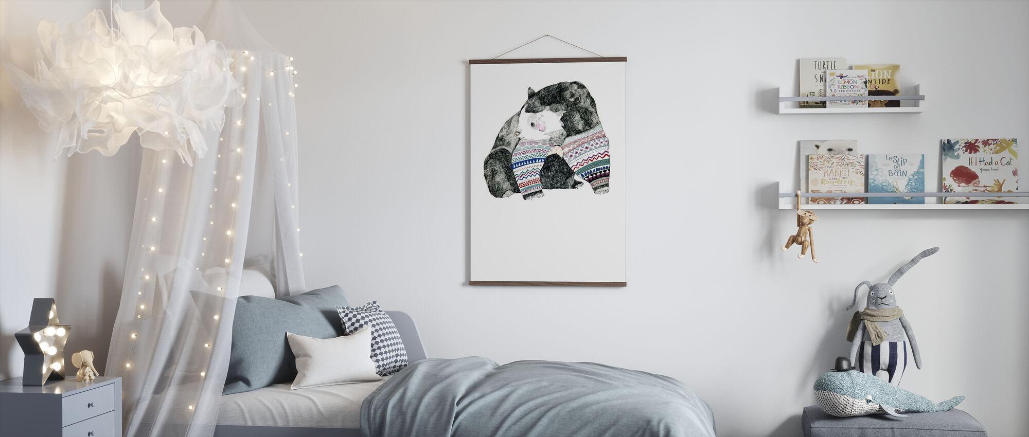 Knitted Bear - Poster - Kids Room