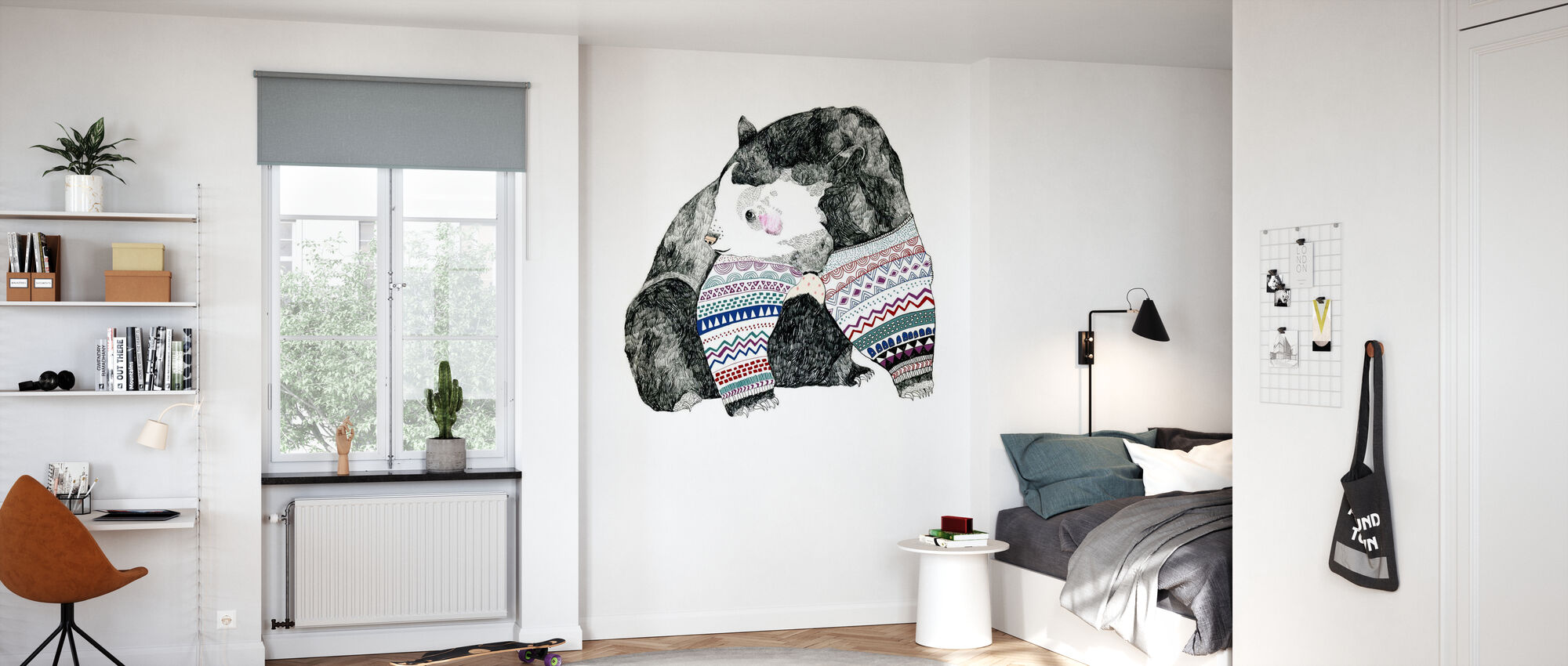 Knitted Bear - Wallpaper - Kids Room