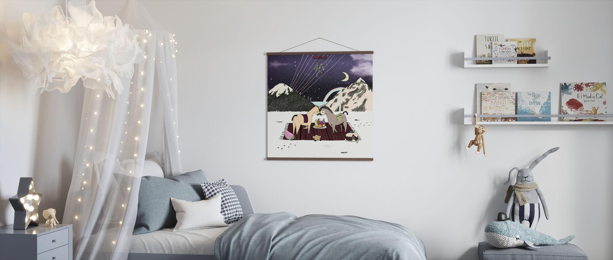 Unicorn Picnic - Poster - Kids Room