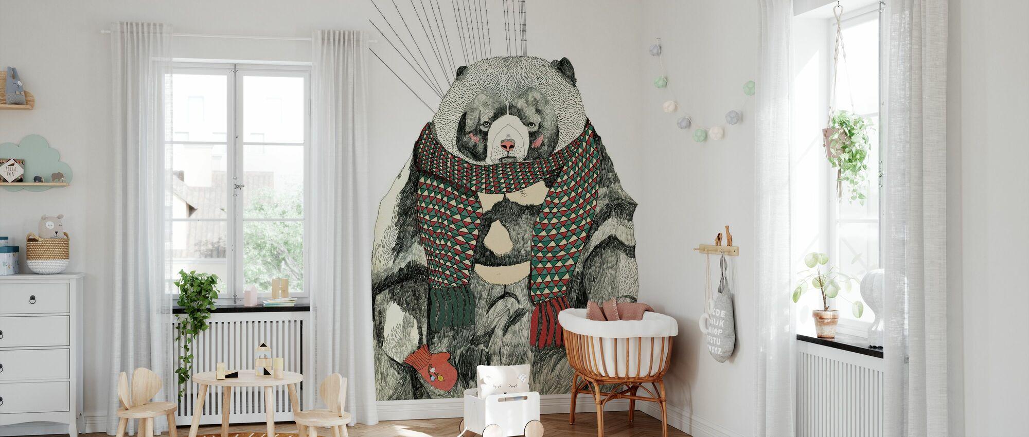Woolly Bear - Wallpaper - Nursery