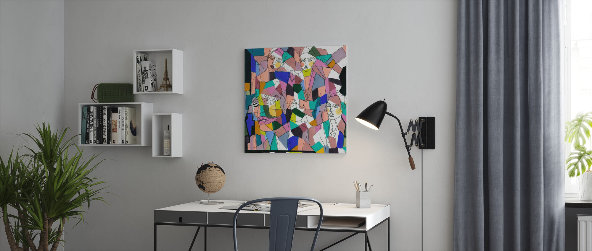 Confetti Girls - Canvas print - Office