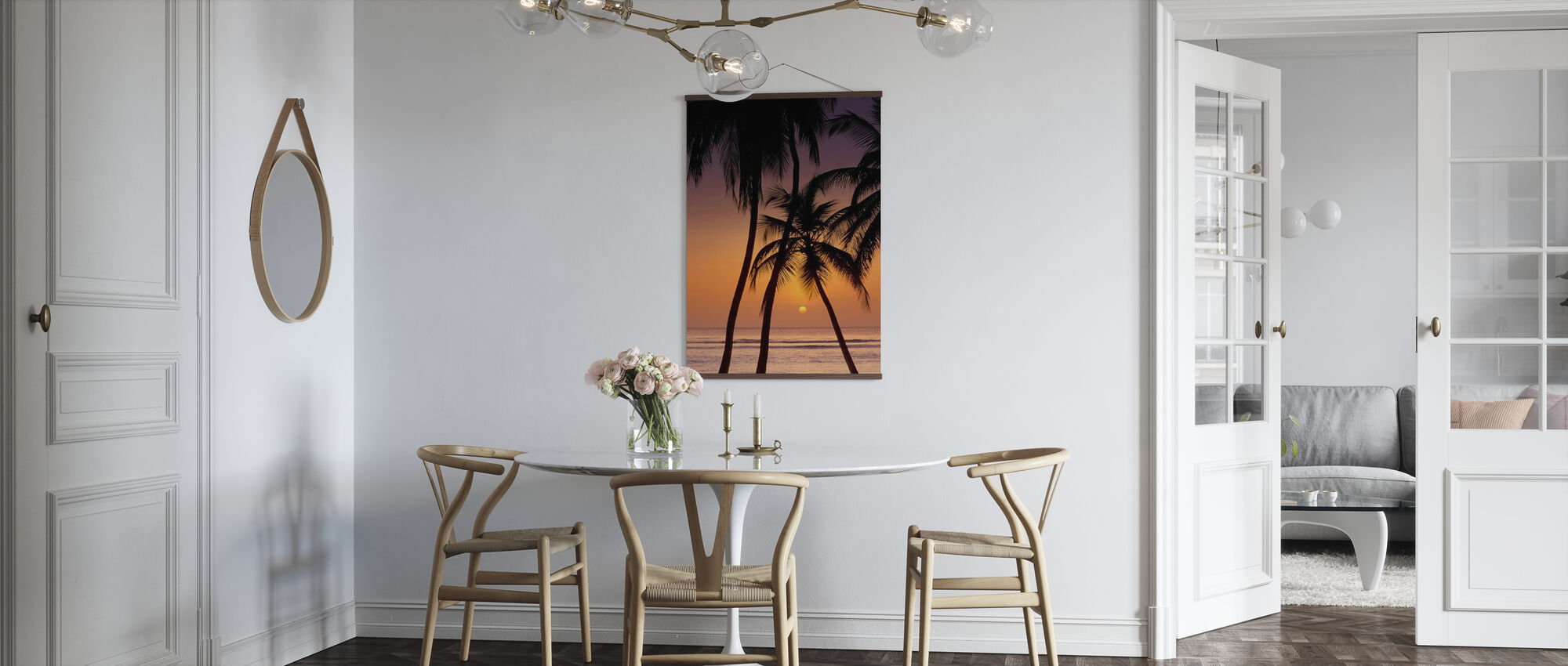 Karibik Sonnenuntergang - Poster - Küchen