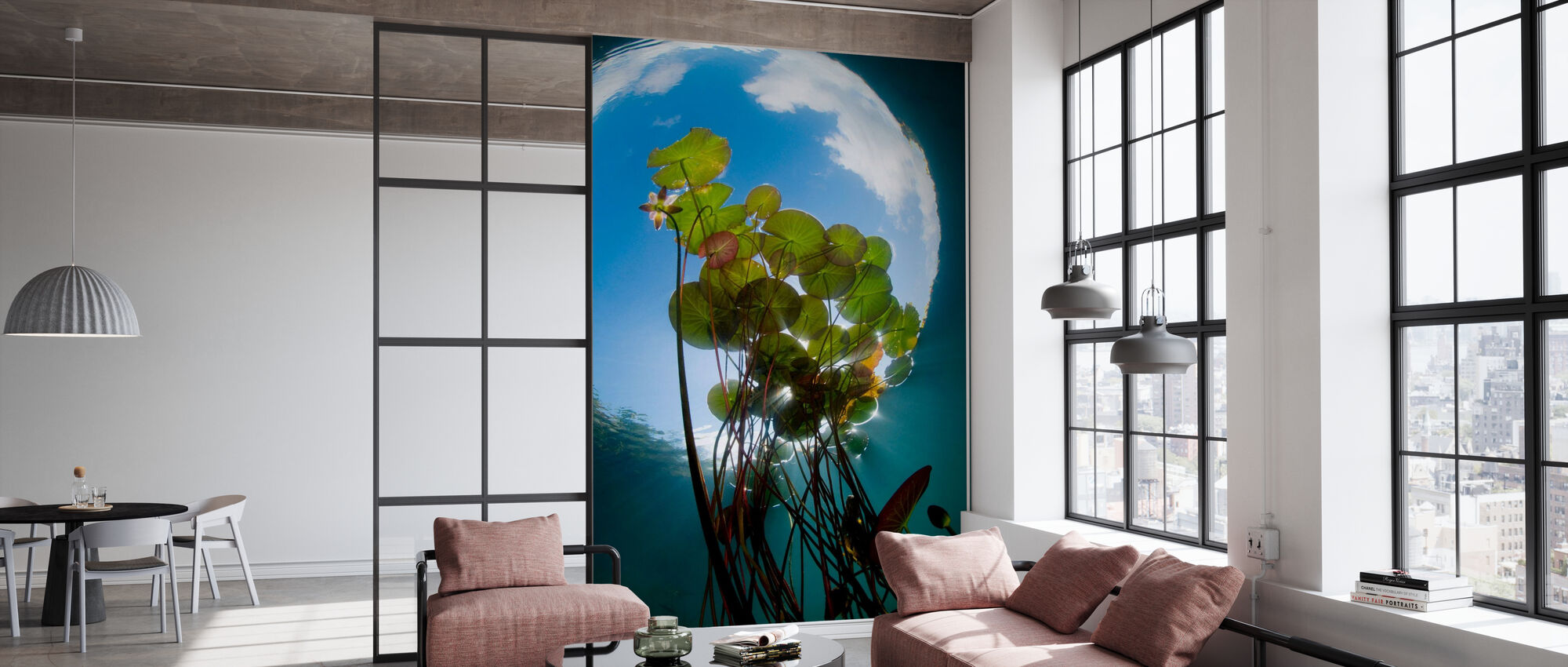 Floating Water Lilies - Wallpaper - Office